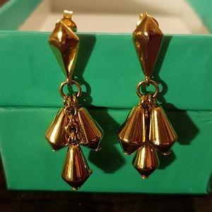 PIERCED-GOLDTONE DANGLE EARRINGS